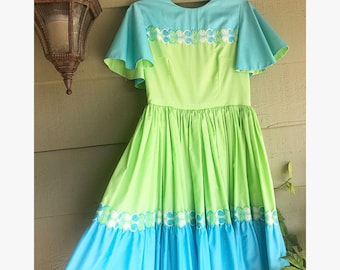 1950s/60s Two Toned Fit and Flare Dress
