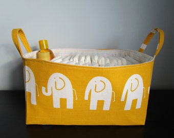 Home Decor, Baby Shower Gift, Storage Basket, Toy Storage Bin, Fabric Basket, Diaper Caddy, toy storage basket nursery basket Nursery Decor