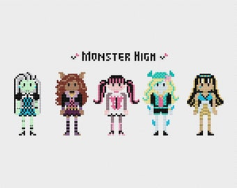 Monster High Cross Stitch Pattern PDF Instant Download