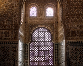Spain Photography, Alhambra, Travel Photography, Fine Art, Home Decor, Wall Art, Office Decor, Color, Andalusia, Granada, Palace, Arabic