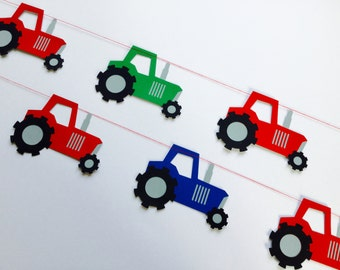On the Farm Tractor Garland