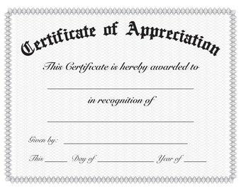 Simple Certificate of Appreciation
