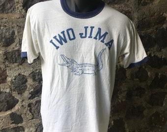 Vintage Iwo Jima Alligator ringer t shirt size medium