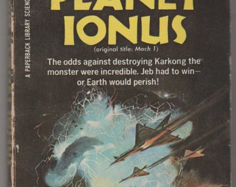 1966, Terror on Planet Ionus, Allen Adler Paperback Science Fiction Book.  GD. Paperback Library Inc.