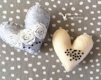 Heart brooch A set