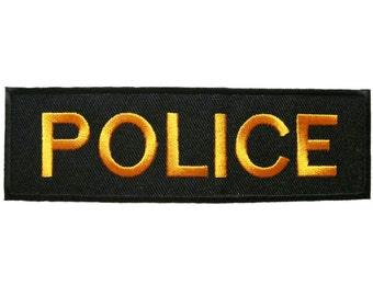 Police Embroidered Applique Iron on Patch