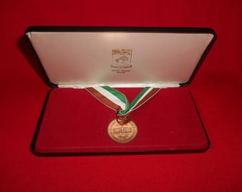 One (1), Boxed Copper Colored Medal, from Prince Edward Island, Celebrating the 1873-1973 Centennial of Confederation..