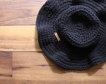 Floppy Brim Cotton Sun Hat