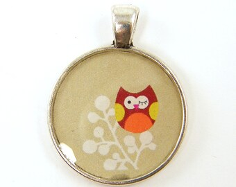 Owl Pendant - Whimsical Woodland Silver Bird Jewelry Charm