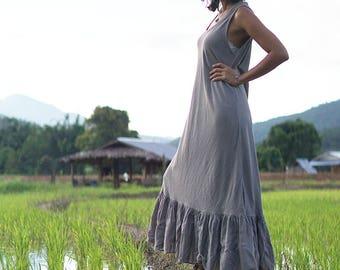 grey maxi dress, gypsy dresses boho, gypsy cotton dress, gypsy summer dress, gypsy boho dress, loose maxi dress, maxi gypsy dresses, dress