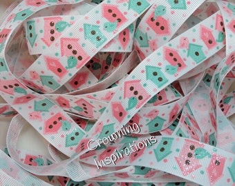 7/8 Birdhouse Glitter Ribbon