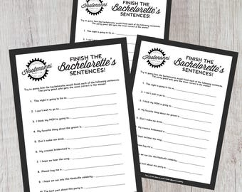 Finish the Bachelorette's Sentences Party Game
