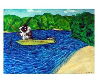 25% off Pot Belly Pig Fishing Animal Art Print