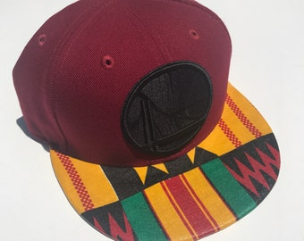 Golden State Warriors NBA snapback adjustble hat with Kente African fabric