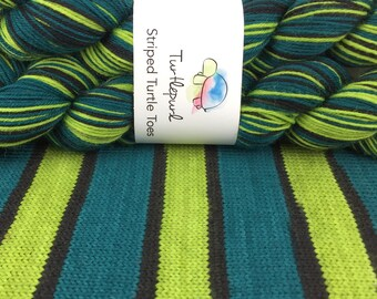 Absinthe - Hand-dyed Self-striping sock yarn