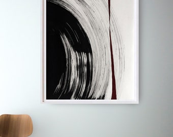 Original large black and white abstract ink art painting, hurricane, ink art, large abstract art, extra large abstract, abstract painting