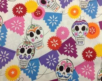 Alexander Henry Fabric Puebla White Bkg 1 Yard