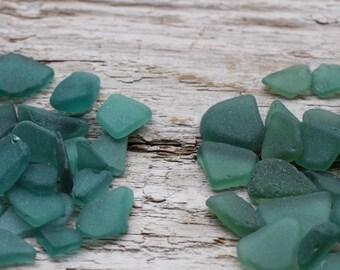 Dark Teal - Emerald - Forest Green Tiny Sea Glass Bulk