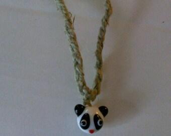 10 Dollar SALE/ Glass Panda Necklace