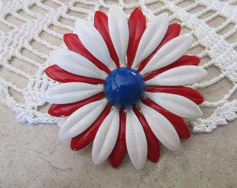 ENAMEL FLOWER PIN, 60s and 70s Flower Power Pin
