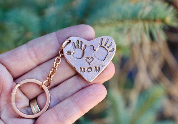 Mother Handprint Keychain