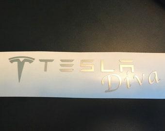 Tesla Diva Decal
