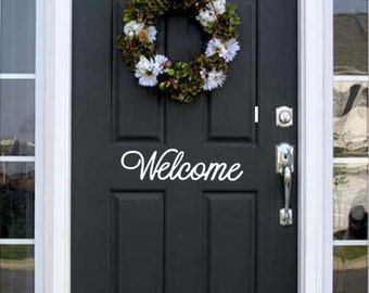 Welcome Front Door Vinyl Decal Sticker Sign Welcome Vinyl Decal