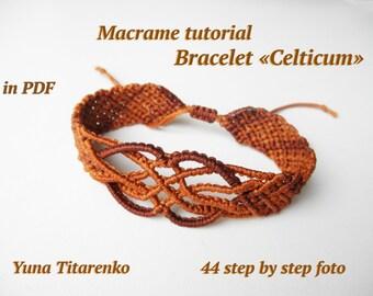 """Macrame tutorial. Bracelet """"Celticum"""""""