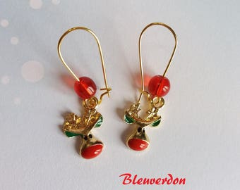 Rudolf the Red Nosed Reindeer earrings