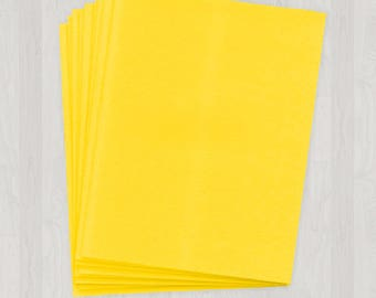 100 Sheets of Cover Stock - Yellow - DIY Invitations - Paper for Weddings & Other Events