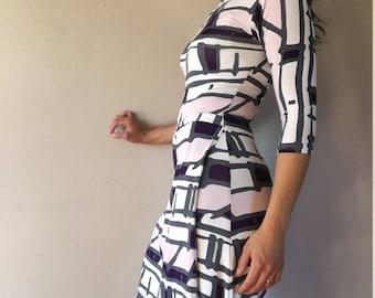 WRAP DRESS. Lola print Dress. Versatile shape. Drapey stretch