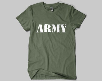 ARMY T-SHIRT / Premium Quality ! - Made in London / Fast Delivery to the Usa , Canada , Australia & Europe !