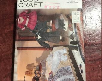 Vogue Craft Pattern 8241 - Victorian Doll Clothes - Linda Carr - Uncut