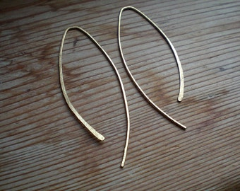 Minimal gold earrings, minimal jewelry, gold accessories, gold jewelry, lightweight earrings