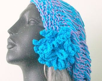 HAT WOMEN KNITTED  Summer cotton snood slouchy rasta headcover