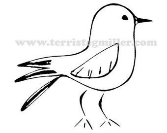 Thermofax Screen - Bird 2
