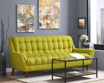 RESPONSE Sofa Mid Century Modern Style in Fabric  Ready to ship!