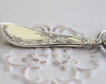 Silverware Key Holder Key Chain Key Ring ~ LILY ~ Late 1800's ~ RARE & Ready To Ship ~ USA Made ~ Nice Gift Under 25