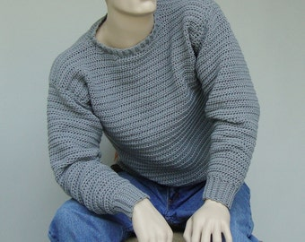 Wool Sweater Men, Sweater Man, Men's Wool Sweater, Men's Sweater, Gray Sweater, Wool Sweater, Men's Sweaters, Gift for Him, Available in M