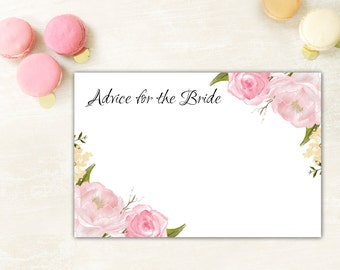 Advice For The Bride, Advice For Bride Card, Bridal Shower Game, Bridal Game Card, Bridal Shower Advice Cards, Bridal Shower Printables