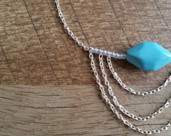 Necklace with blue bead