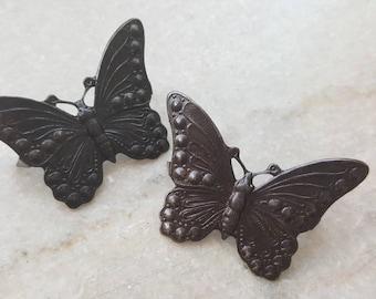 Vintaj Arte Metal {Marcasite Butterfly Decorivet, Connector, Pendant} DIY JEWELRY - 2 Pcs / ADV011