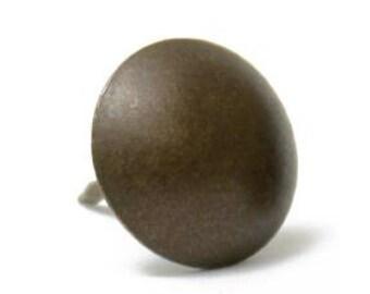 Tissus d'ameublement au Canada fournitures Antique décoratif foncé naturel acier/laiton plaqué Nail (tête-7/16 «1,3 cm) (100) PC 5906