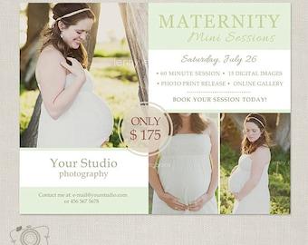 Mini Session Template - Photography Marketing Board - Maternity Mini Session 059 - C208, INSTANT Download