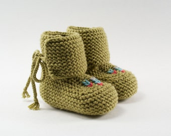 Hi-Top Knit Baby Moccasin Booties + Choose your color