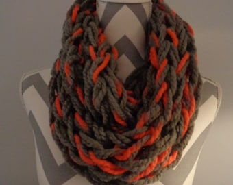 Arm Knitted Infinity Scarf/Cowl