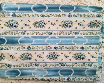 New Old Stock Vintage Pillow Ticks - Pillow Cover - Biltmore Brand - Turquoise Pink Blue Farmhouse Linens - Zippers NOS NIP