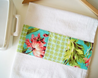 Kitchen Towel in Patchwork - Bliss Bouquet and Polka Dot