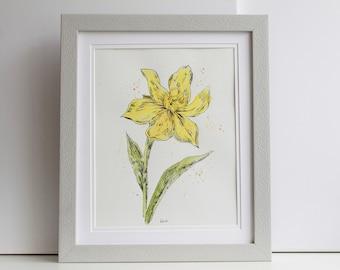Yellow Daffodil - Original Watercolour Painting (Un-Framed)