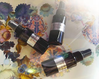 Gypsy Water Aromatherapy Mist, Queen of Hungary Hydrosol / Flower Water. 2 Ounces